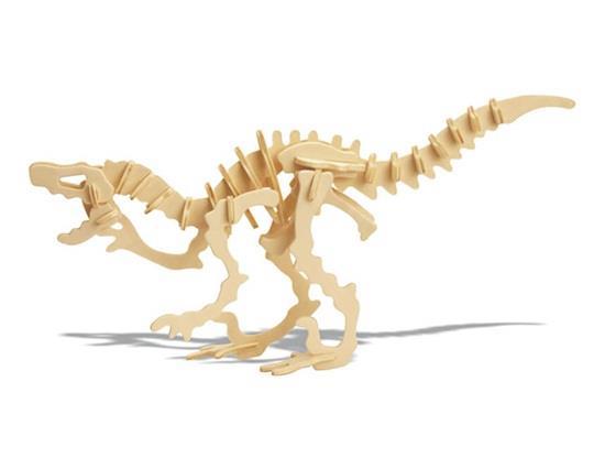YX0424W  D-09-1 DIY 3D Wooden Dinosaur Animal Puzzle Mini Deinonychus Model Safe Friendly-environmental Simulation Intel
