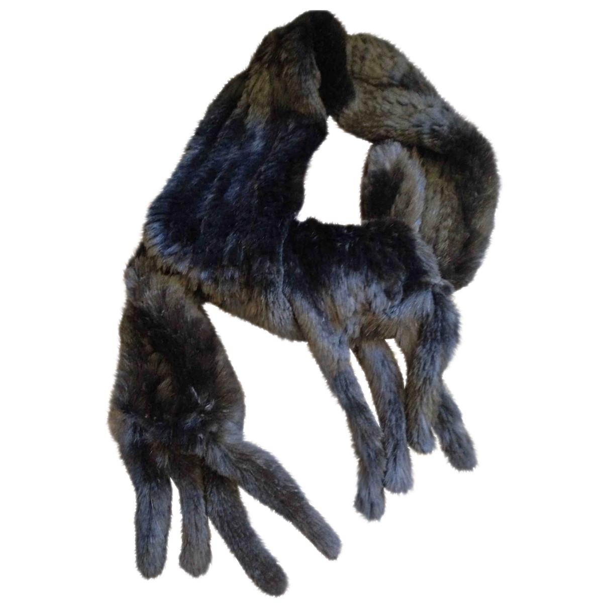 Oakwood \N Black Rabbit Silk handkerchief for Women \N