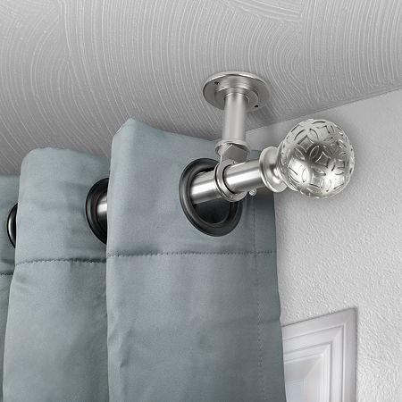Rod Desyne Odelia Ceiling Curtain Rod, One Size , Silver