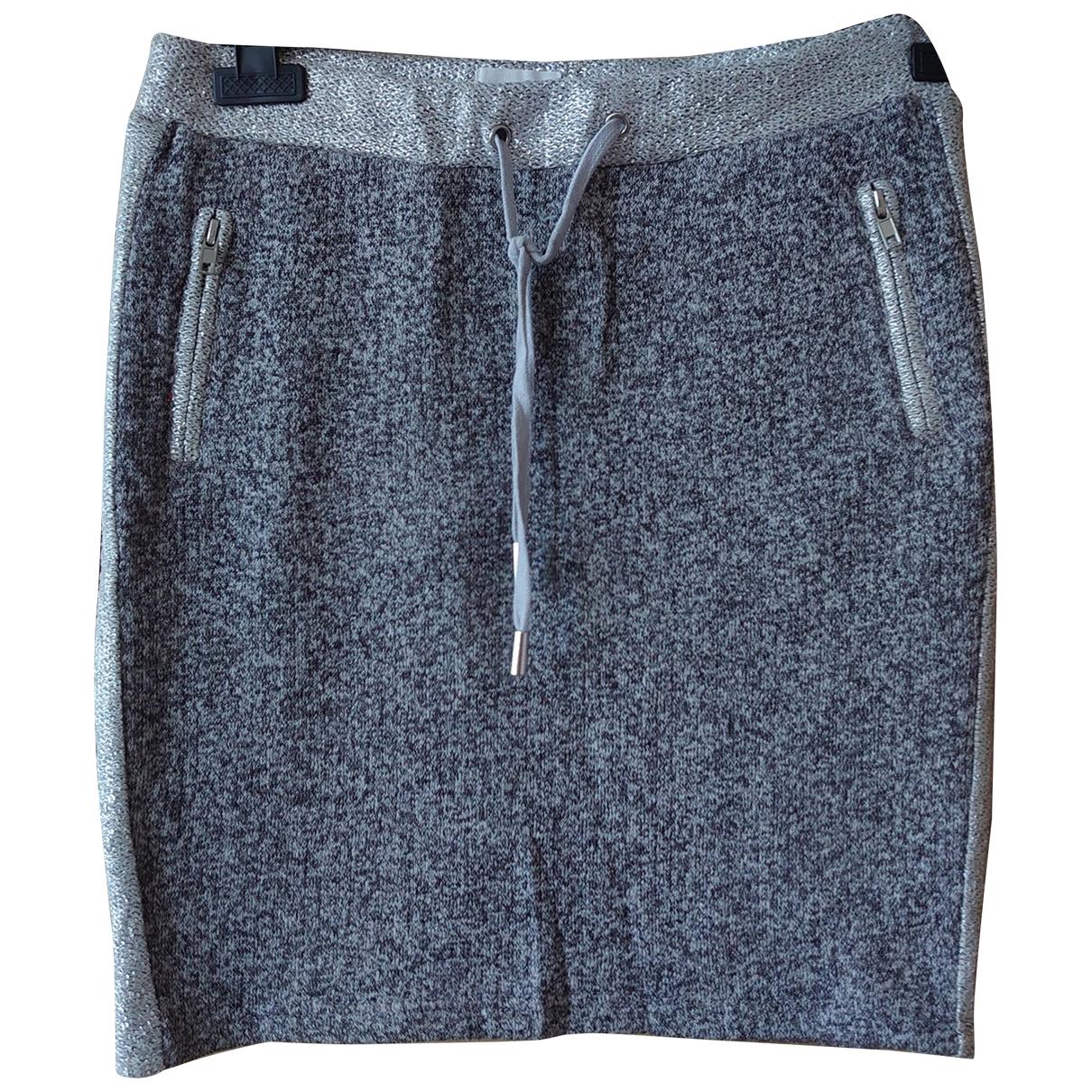 Bel Air \N Anthracite Cotton - elasthane skirt for Women 38 FR