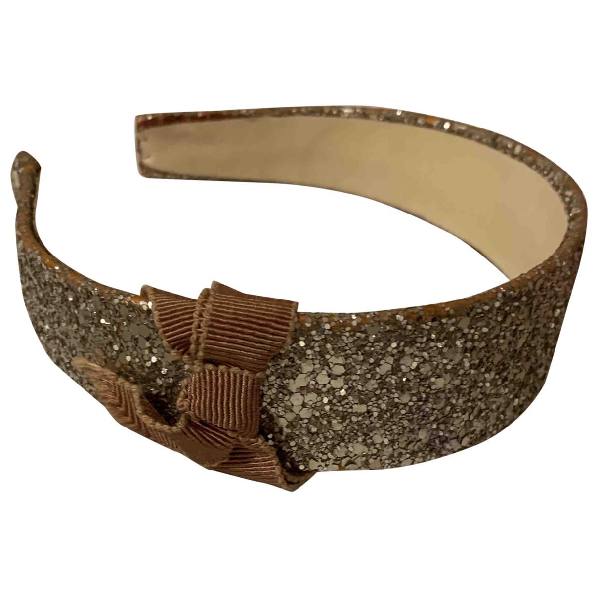 Miu Miu \N Gold Cloth Hair accessories for Women XS International