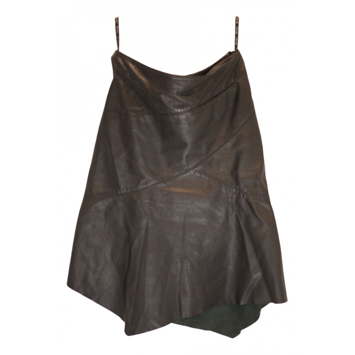 Non Signé / Unsigned \N Black Leather skirt for Women 12 UK