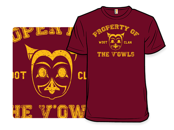 Property Of The V'owls T Shirt