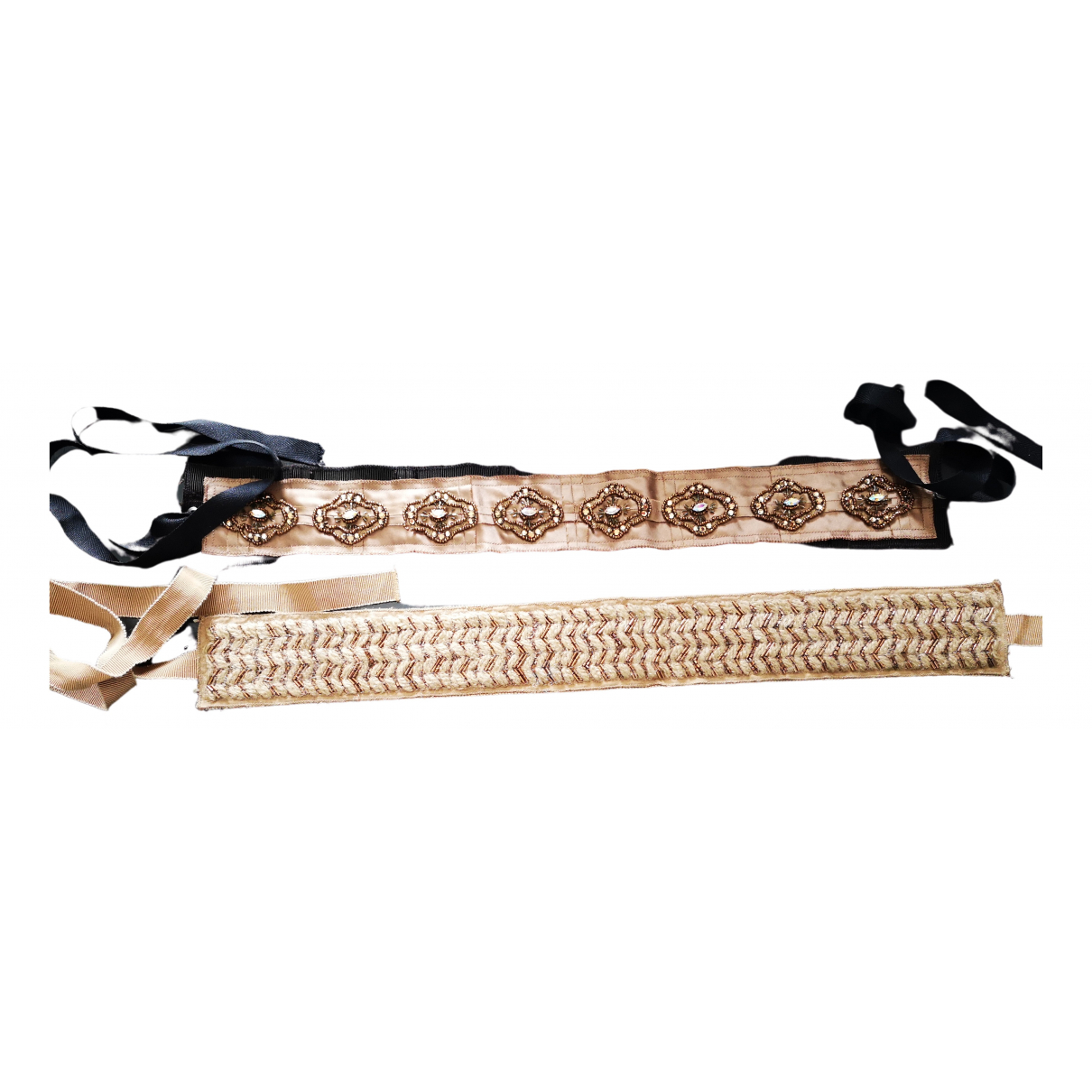 Prada \N Ecru Cloth belt for Women 80 cm