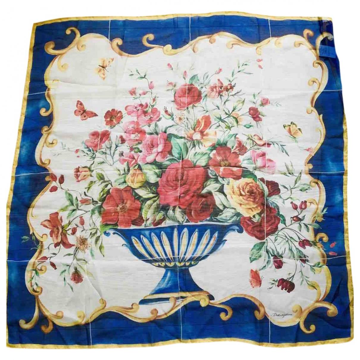 Dolce & Gabbana \N Blue Silk scarf for Women \N