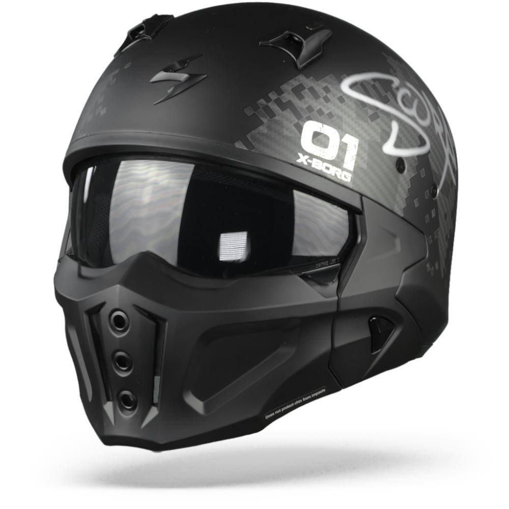 Scorpion Covert-X XBorg Casco Jet Negro Mate Gris S