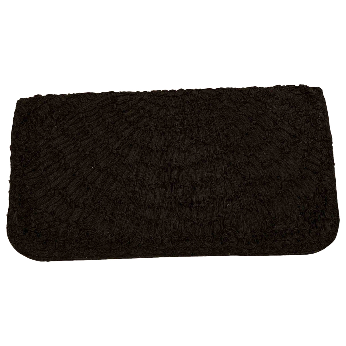 Non Signé / Unsigned \N Black Cotton Clutch bag for Women \N