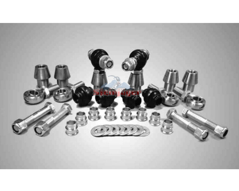 Steinjager J0005954 Rod Ends Set 0.75-16 for 1.500 OD x .120 Ball ID 3HSS-24120-12-12-TT-ZZ 0.75-16 x 0.75
