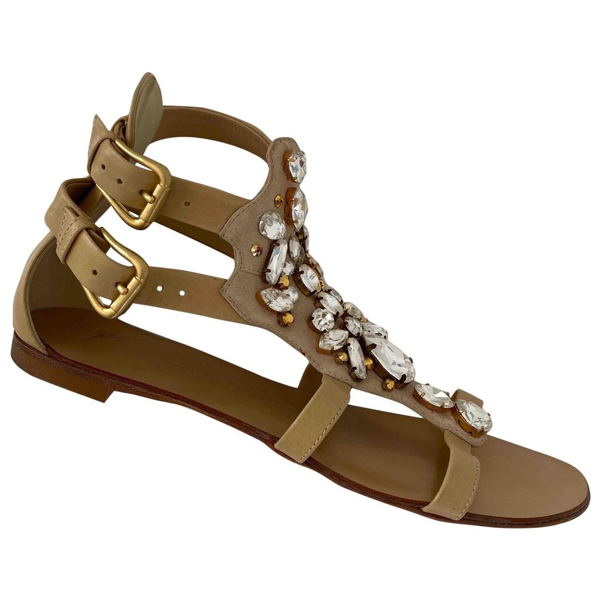Giuseppe Zanotti \N Beige Leather Sandals for Women 39 EU