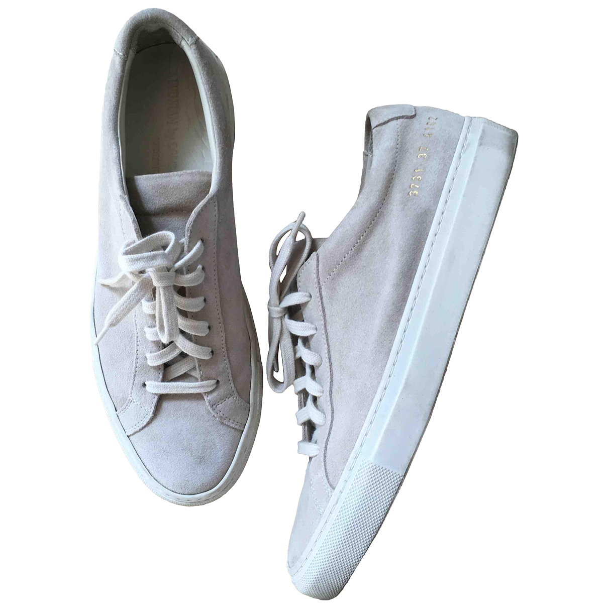 Common Projects \N Beige Suede Trainers for Women 37 EU