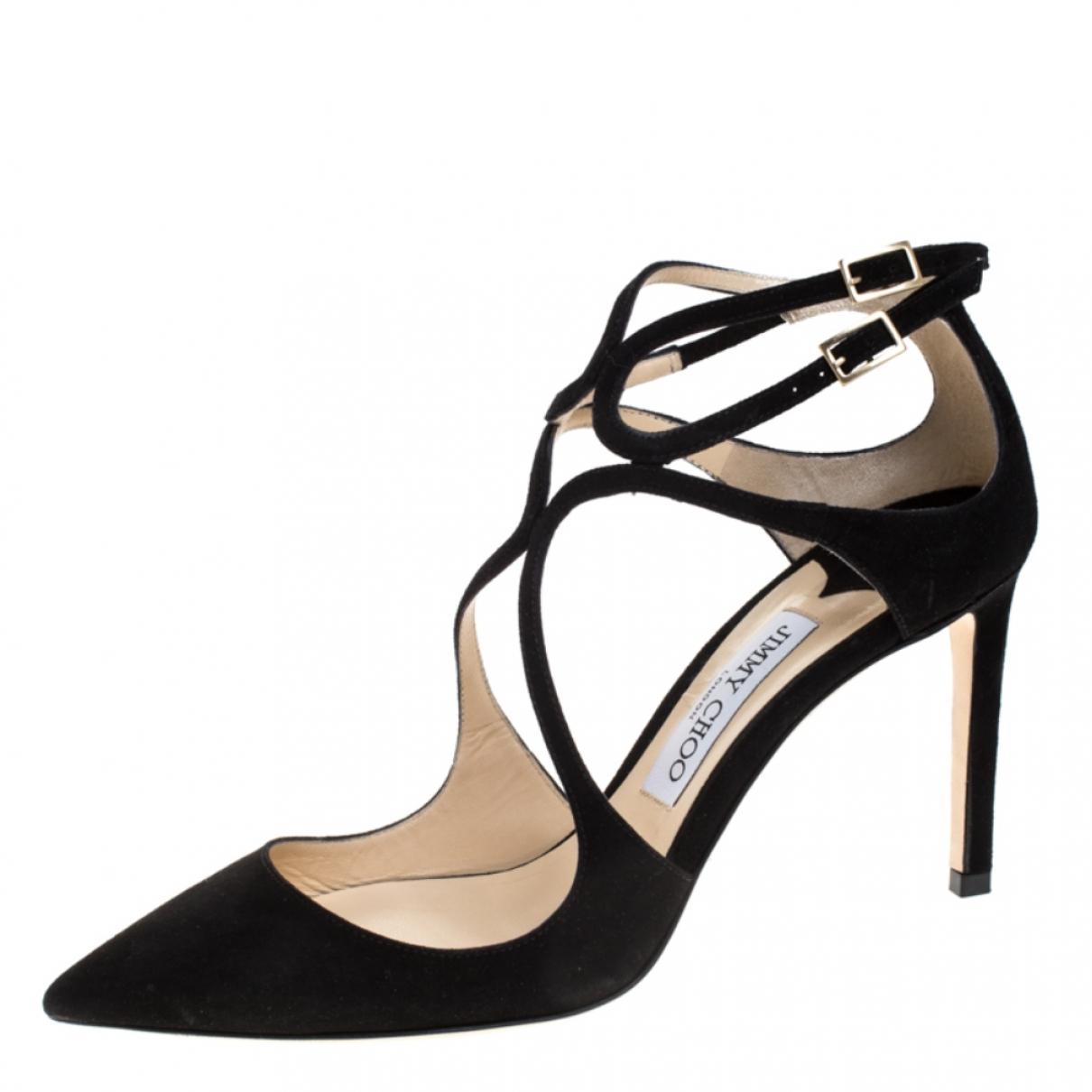 Jimmy Choo \N Black Leather Sandals for Women 8.5 US