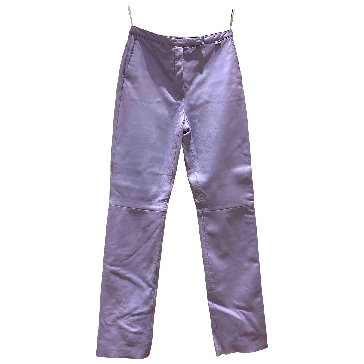 Escada \N Leather Trousers for Women 40 IT