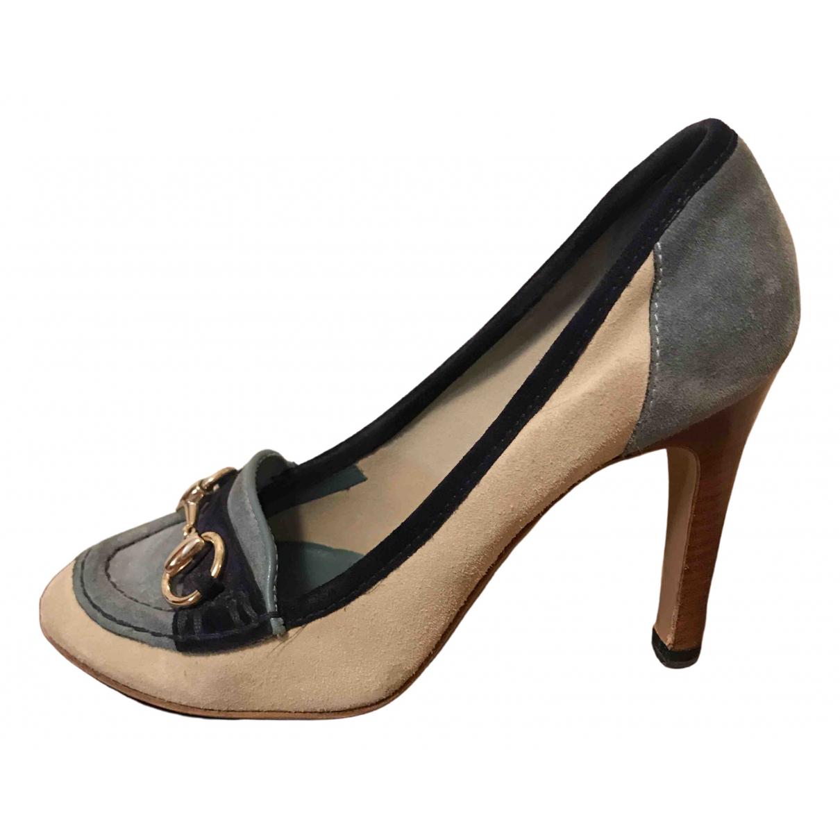 Gucci \N Blue Suede Heels for Women 34 EU