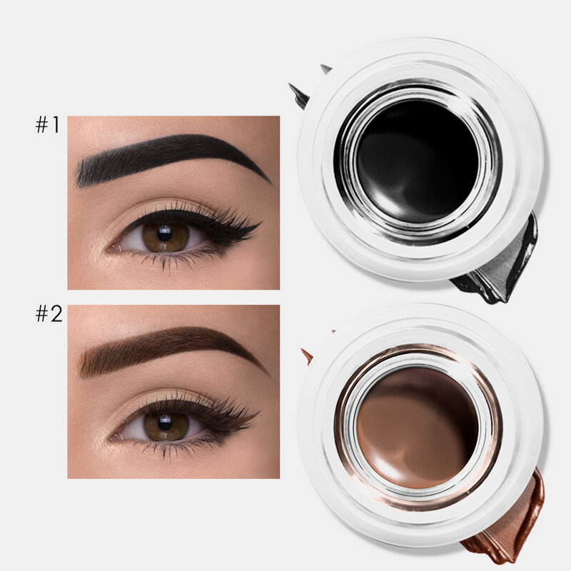 5 Colors Dual-Use Eyeliner Gel Cream Waterproof Long-Lasting Eyebrow Cream Eyeliner