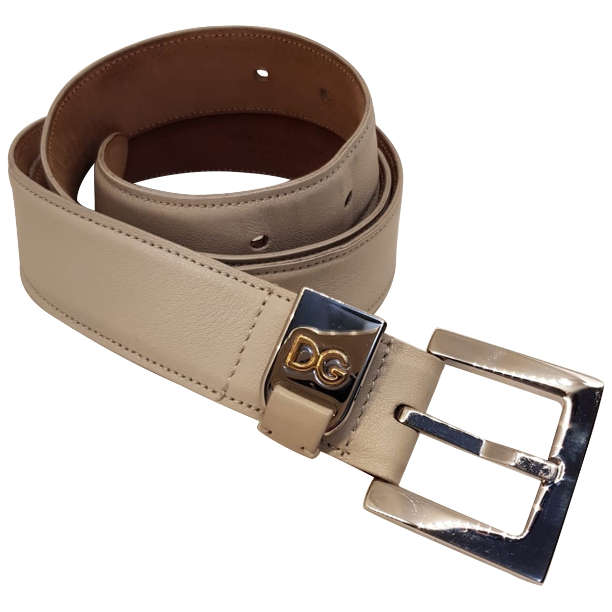 D&g \N Camel Leather belt for Women 37 Inches