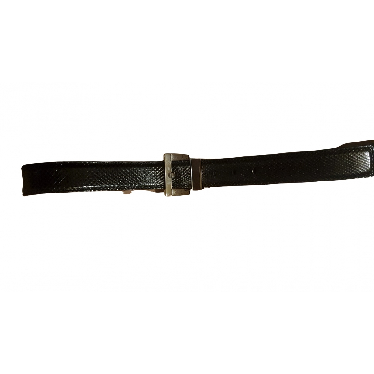 D&g \N Black Leather belt for Men 100 cm