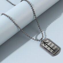 Men Arrow Design Geometric Charm Necklace