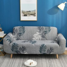 Leaf Print Sofa Cover Without Cushion