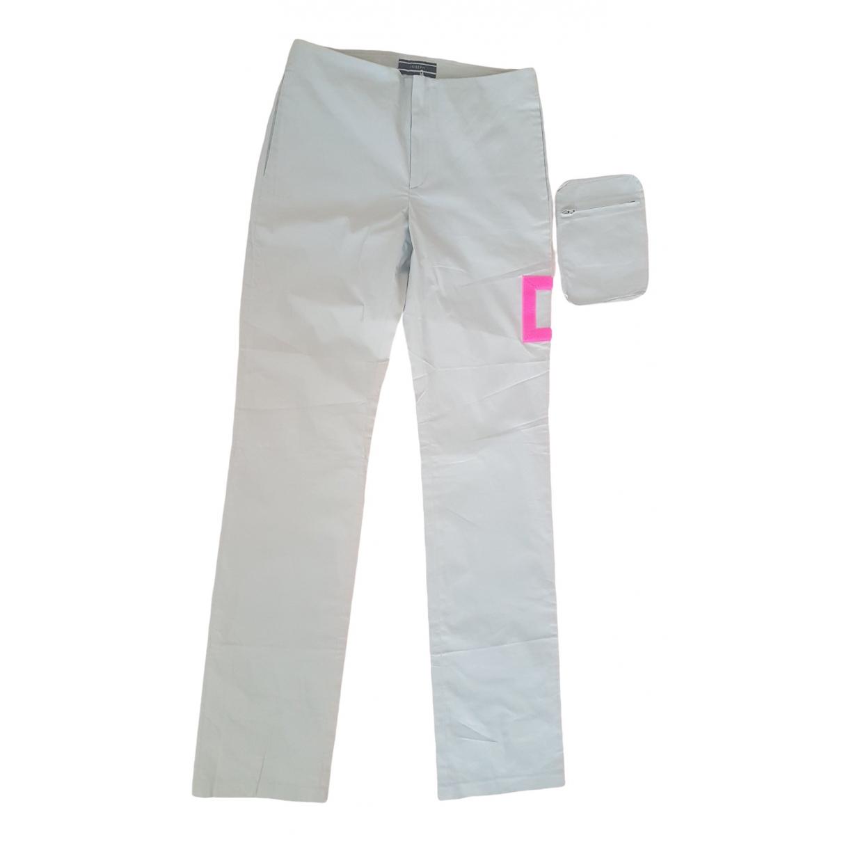 Joseph \N Grey Cotton Trousers for Women XS International