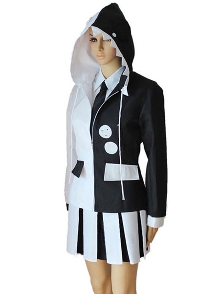 Milanoo Danganronpa Monokuma Cosplay Costume Girls Version Halloween