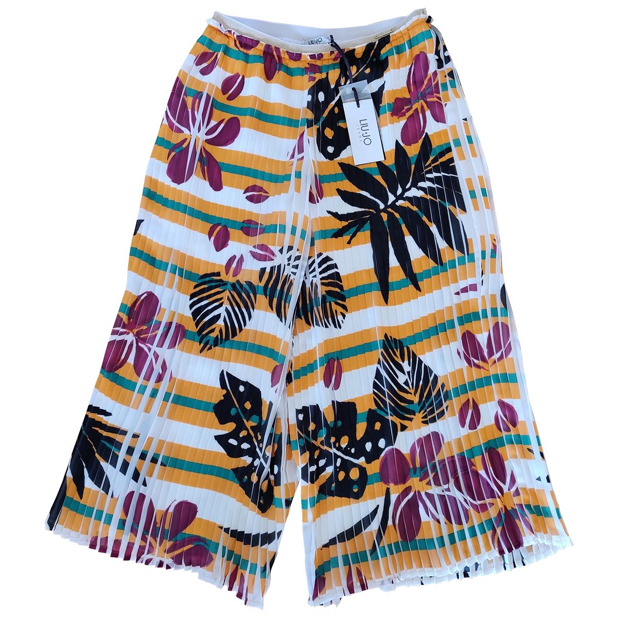 Liu.jo \N Multicolour Trousers for Women 42 IT