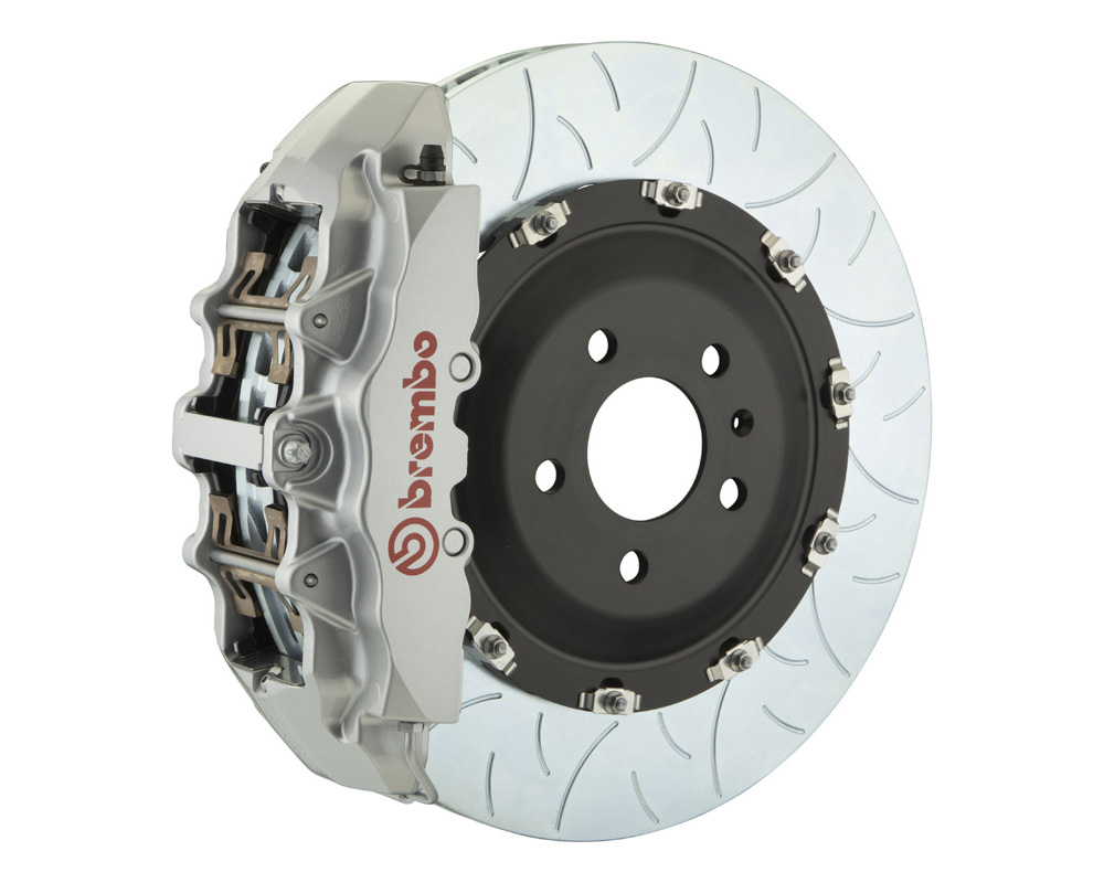 Brembo GT 380x34 2-Piece 8 Piston Silver Slotted Type-3 Front Big Brake Kit