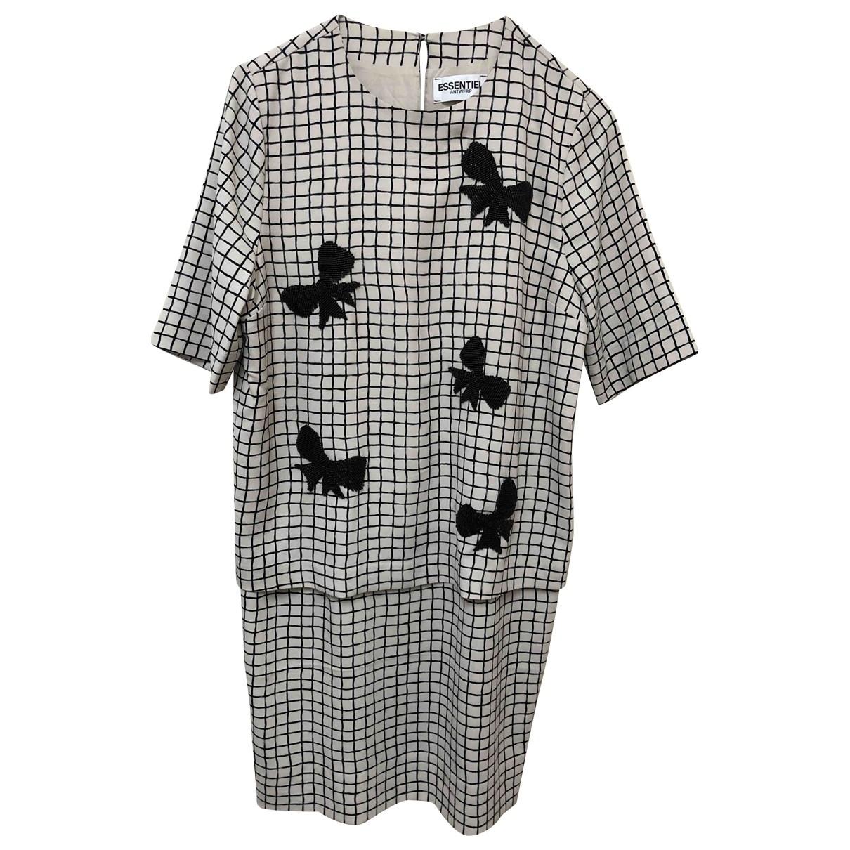 Essentiel Antwerp \N Ecru dress for Women 38 FR