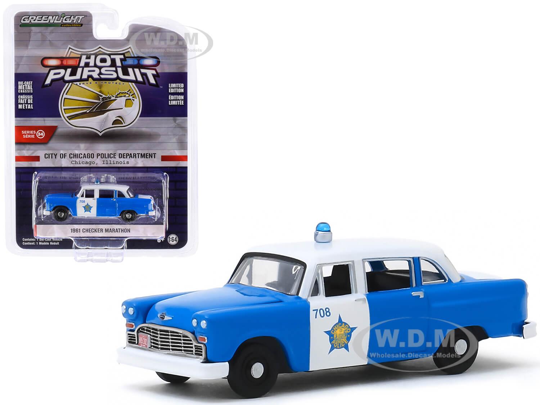 1961 Checker Marathon Blue and White