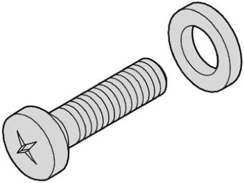Schroff Screw for use with Backplane Fixing M2.5 x 12 x , 100 Pack