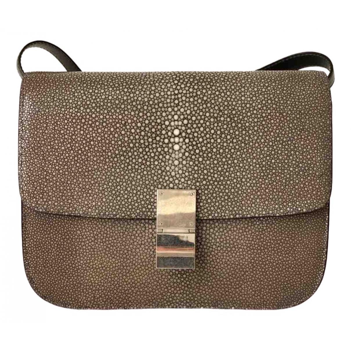Celine Classic Grey Stingray handbag for Women \N