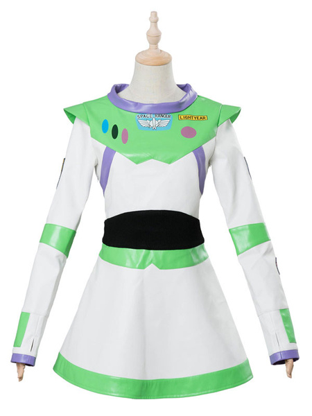 Milanoo Toy Story 4 Cosplay Buzz Lightyear Light Green Faux Leather Film Set Disney Cartoon Costume Halloween
