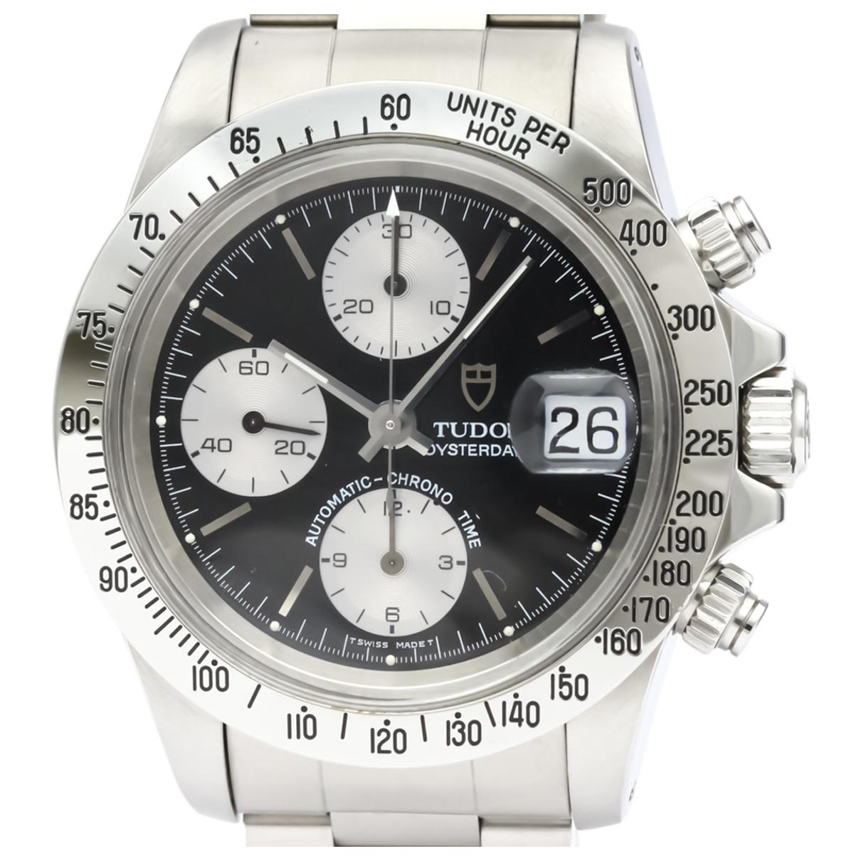 Tudor \N Black Steel watch for Men \N