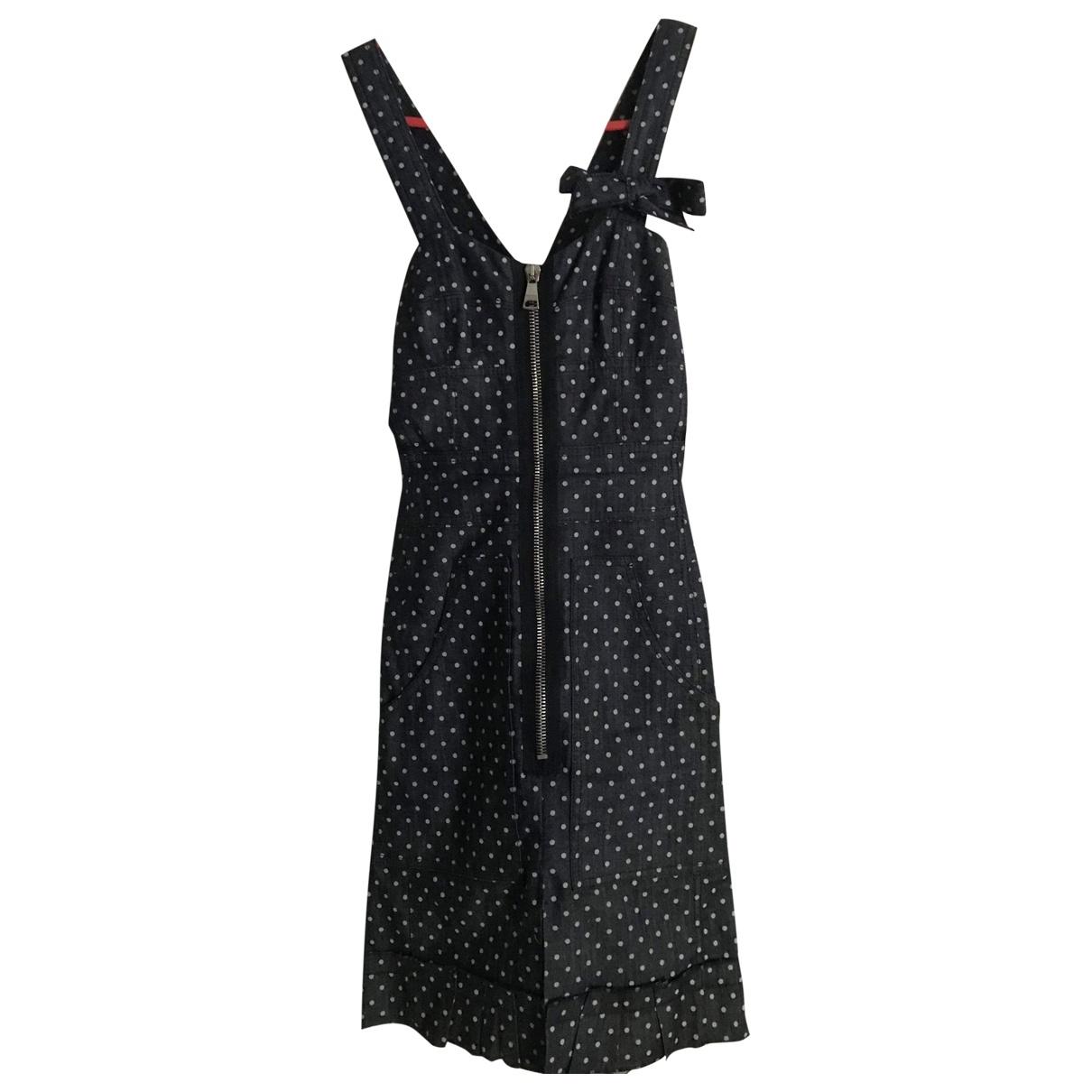 Sonia By Sonia Rykiel \N Blue Cotton - elasthane dress for Women 36 FR