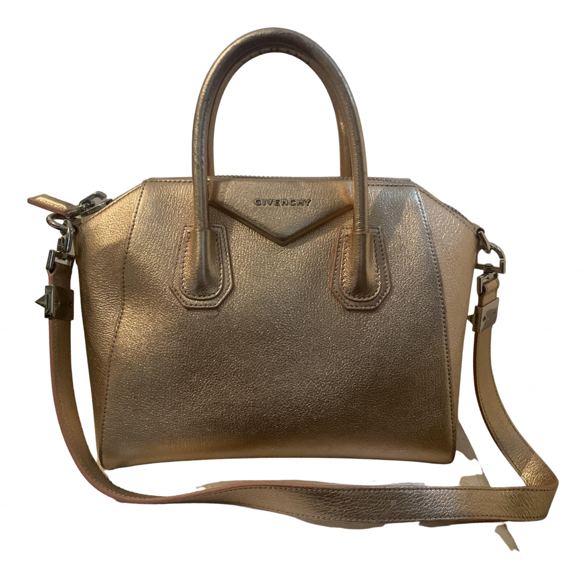 Givenchy Antigona Gold Leather handbag for Women \N