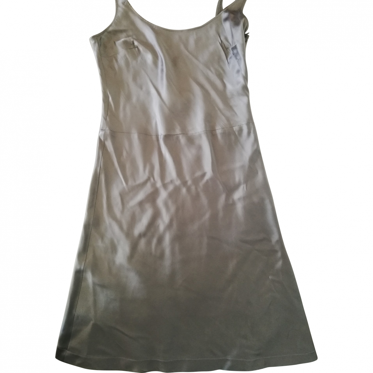 Agnès B. \N Silver Silk dress for Women 40 FR