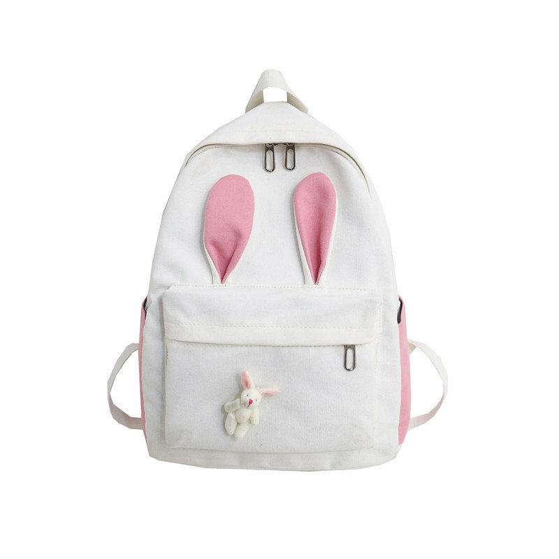 Women Large-Capacity Canvas Cartoon Backpack Casual School Bag