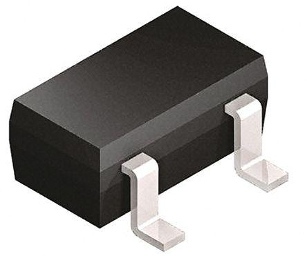 Infineon BB814E6327GR1HTSA1 Dual Common Cathode Varactor Diode, 43pF min, 2.05:1 Tuning Ratio, 18V, 3-Pin SOT-23 (100)