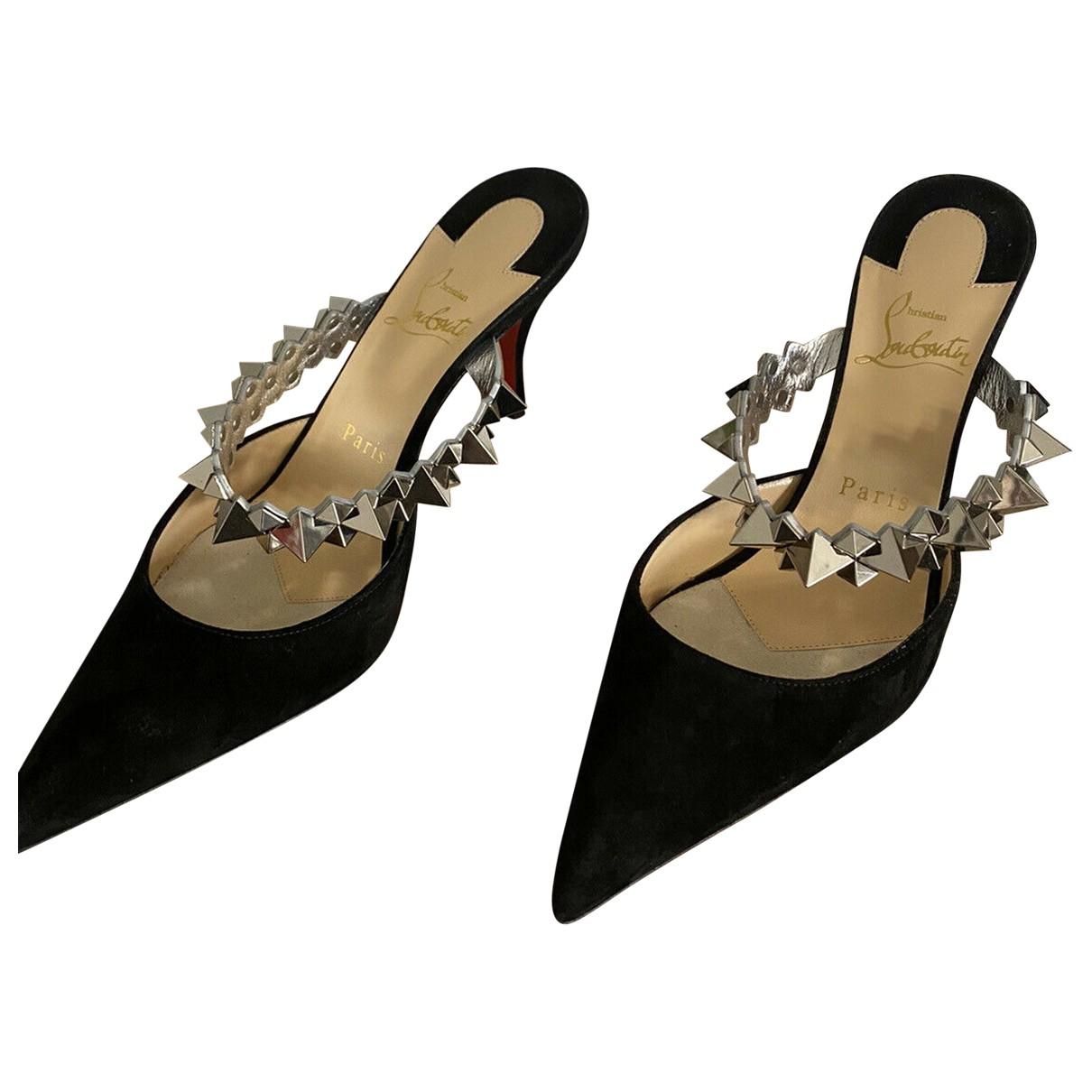 Christian Louboutin \N Black Suede Sandals for Women 40.5 EU