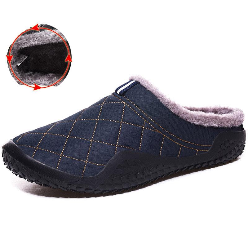 Men Waterproof Non Slip Warm Lining Casual Snow Slippers