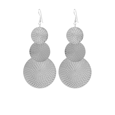 Yoins Silver Exaggerated Discs Metal Earrings