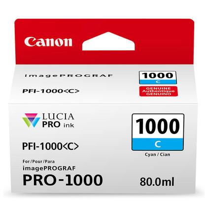 Canon PFI-1000C Original Cyan Ink Cartridge (0547C002)