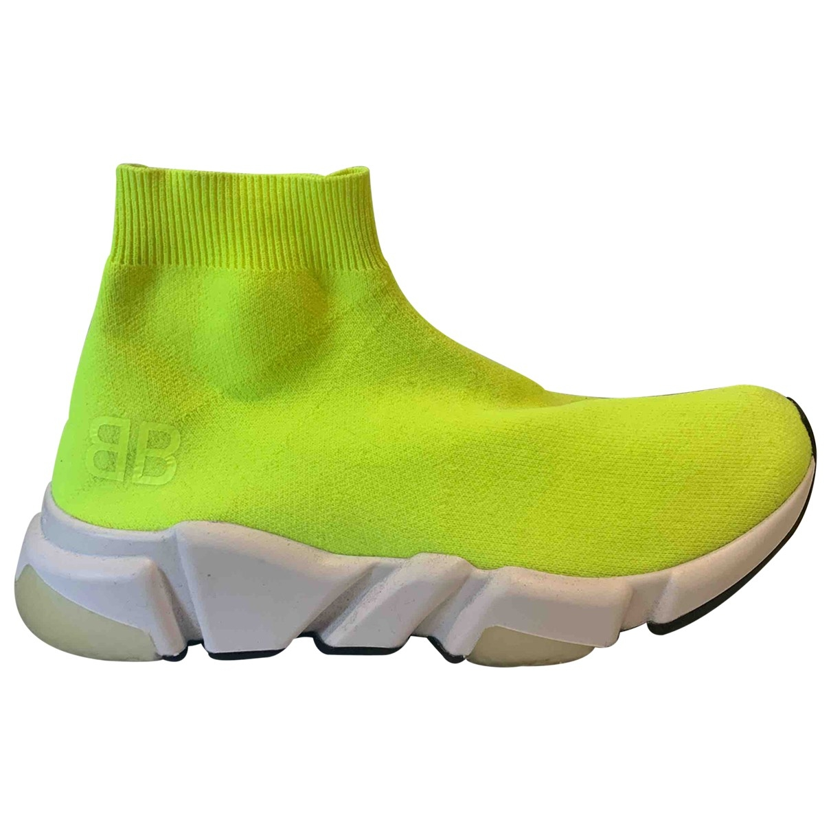 Balenciaga Speed Yellow Cloth Trainers for Women 37 EU