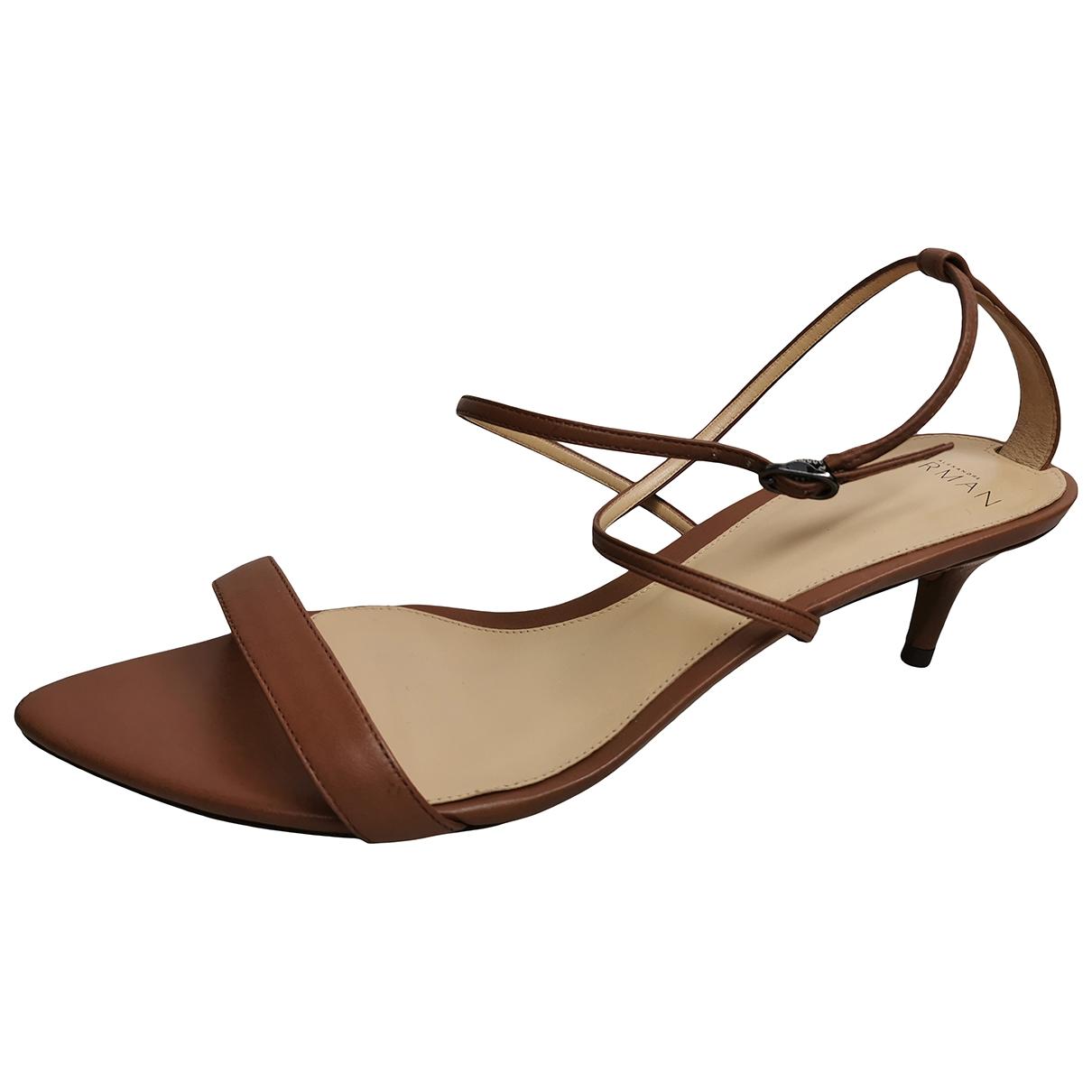 Alexandre Birman \N Brown Leather Sandals for Women 40 EU