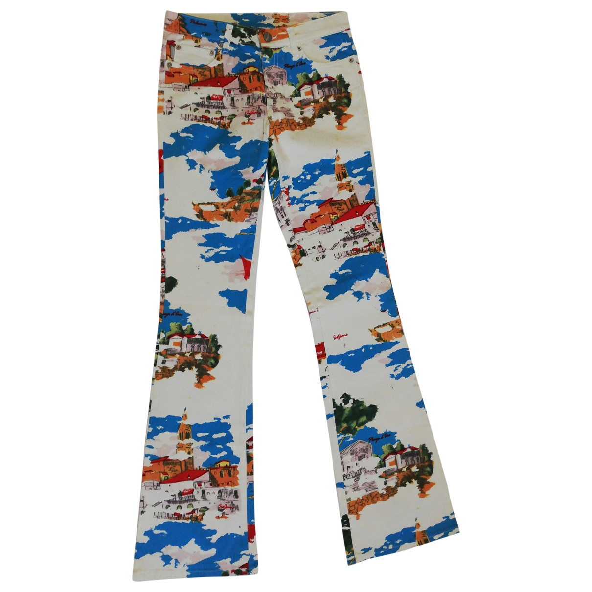 Iceberg \N Multicolour Cotton Trousers for Women 42 IT