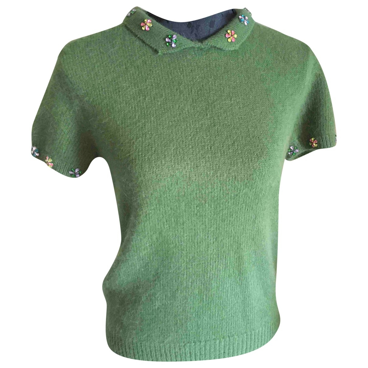 House Of Holland \N Green Wool  top for Women 10 UK