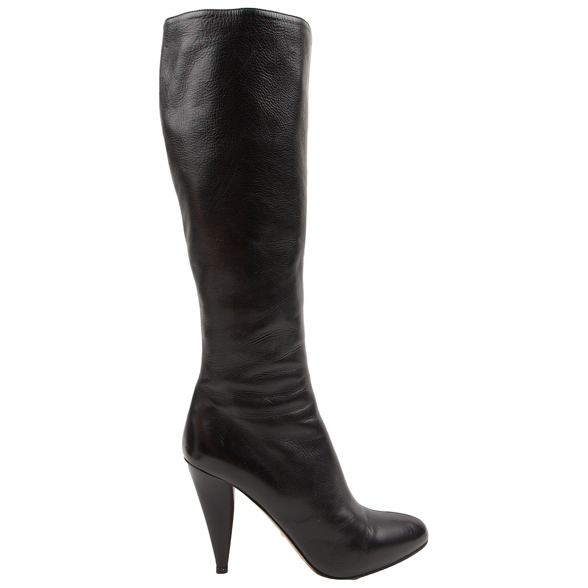 Prada \N Black Leather Boots for Women 38.5 IT