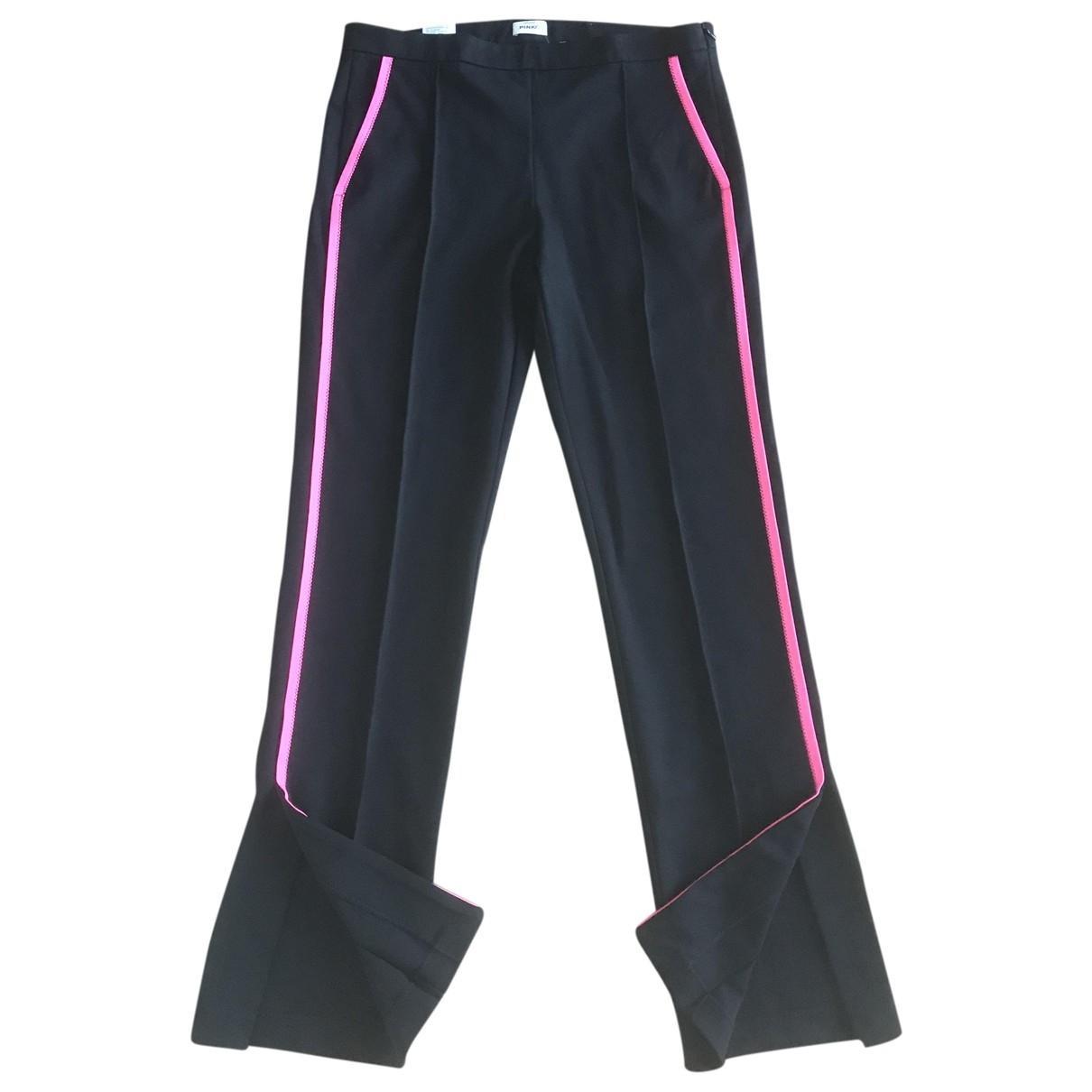 Pinko \N Black Trousers for Women 44 IT