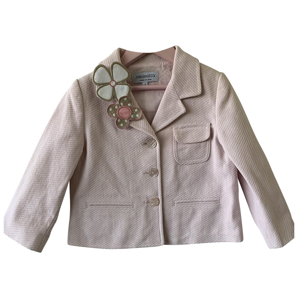 Simonetta \N Pink Cotton jacket & coat for Kids 6 years - up to 114cm FR