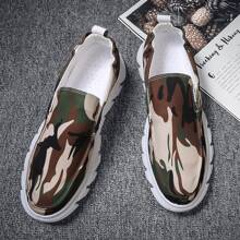 Men Camo Graphic Slip On Loafers