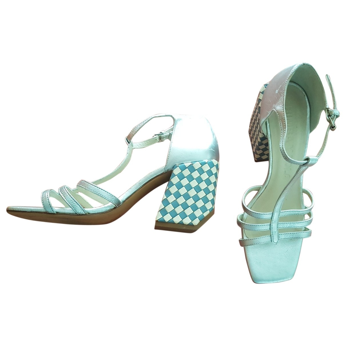 Bimba Y Lola \N Silver Leather Sandals for Women 39 EU